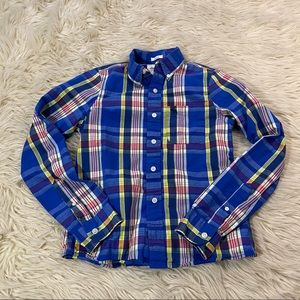 Abercrombie plaid button down long sleeve top